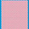 Fantasy Printshop A4 PINK chequered 6MM squares on white background vinyl stickers FPRC706P