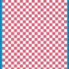 Fantasy Printshop A5 PINK chequered 6MM squares on white background vinyl stickers FPRC706P