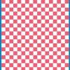 Fantasy Printshop A5 PINK chequered 8MM squares on white background vinyl stickers FPRC708P