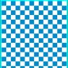 Fantasy Printshop A5 PROCESS BLUE chequered 10MM squares on white background vinyl stickers FPRC710PB