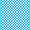 Fantasy Printshop A5 PROCESS BLUE chequered 6MM squares on white background vinyl stickers FPRC706PB