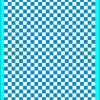 Fantasy Printshop A4 PROCESS BLUE chequered 8MM squares on white background vinyl stickers FPRC708PB