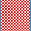 Fantasy Printshop A4 RED chequered 10MM squares on white background vinyl stickers FPRC710R