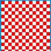 Fantasy Printshop A5 RED chequered 10MM squares on white background vinyl stickers FPRC710R