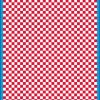 Fantasy Printshop A5 RED chequered 4MM squares on white background vinyl stickers FPRC704R