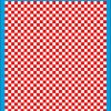 Fantasy Printshop A4 RED chequered 6MM squares on white background vinyl stickers FPRC706R