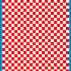 Fantasy Printshop A5 RED chequered 6MM squares on white background vinyl stickers FPRC706R