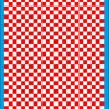 Fantasy Printshop A4 RED chequered 8MM squares on white background vinyl stickers FPRC708R
