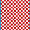 Fantasy Printshop A5 RED chequered 8MM squares on white background vinyl stickers FPRC708R