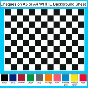 2mm, 4mm. 6mm, 8mm, 10mm, Chequered Colours on white background