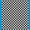 Fantasy Printshop A5 A4 chequered 6MM squares on white background vinyl stickers FPRC706