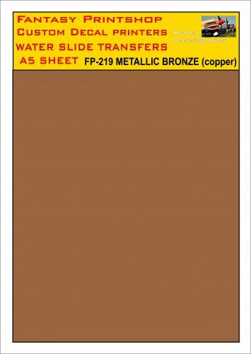 FP-219 METALLIC BRONZE COPPER A5 SHEET FANTASY PRINTSHOP