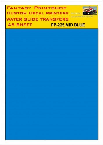 FP-225 MID BLUE A5 SHEET FANTASY PRINTSHOP