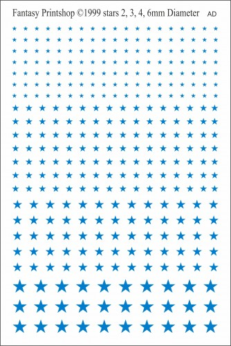 Fantasy Printshop Stars FP505 mid blue