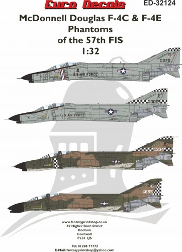 ED32-124 McDonnell Douglas F-4C + F-4E Phantoms of the 57th FIS