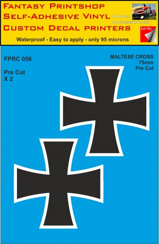 FPRC056 Maltese Cross 75mm