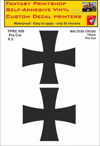 FPRC059 Maltese Cross 75mm