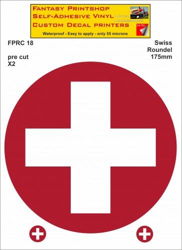 FPRC018 Swiss roundels 175mm