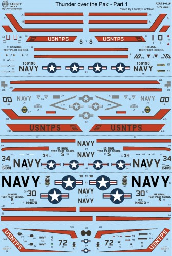 AIR-72-016 USNTPS Pt 1 decals water slide transfers