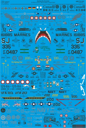 AIR72-013 Hunting the Terrorists decals water slide transfers in 1/72 scale