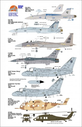 Wolfpak 72-136 On the Prowl 1/72 scale transfers decals