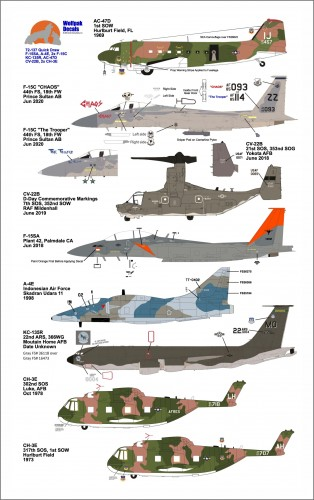 Wolfpak 72-137 Quick Draw 1/72 scale transfers decals