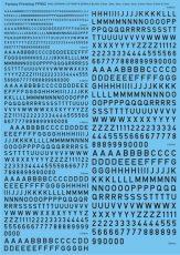 Fantasy Printshop WW2 RAF Letters /& Numbers 1//48 Decals, FP883BK Black 16